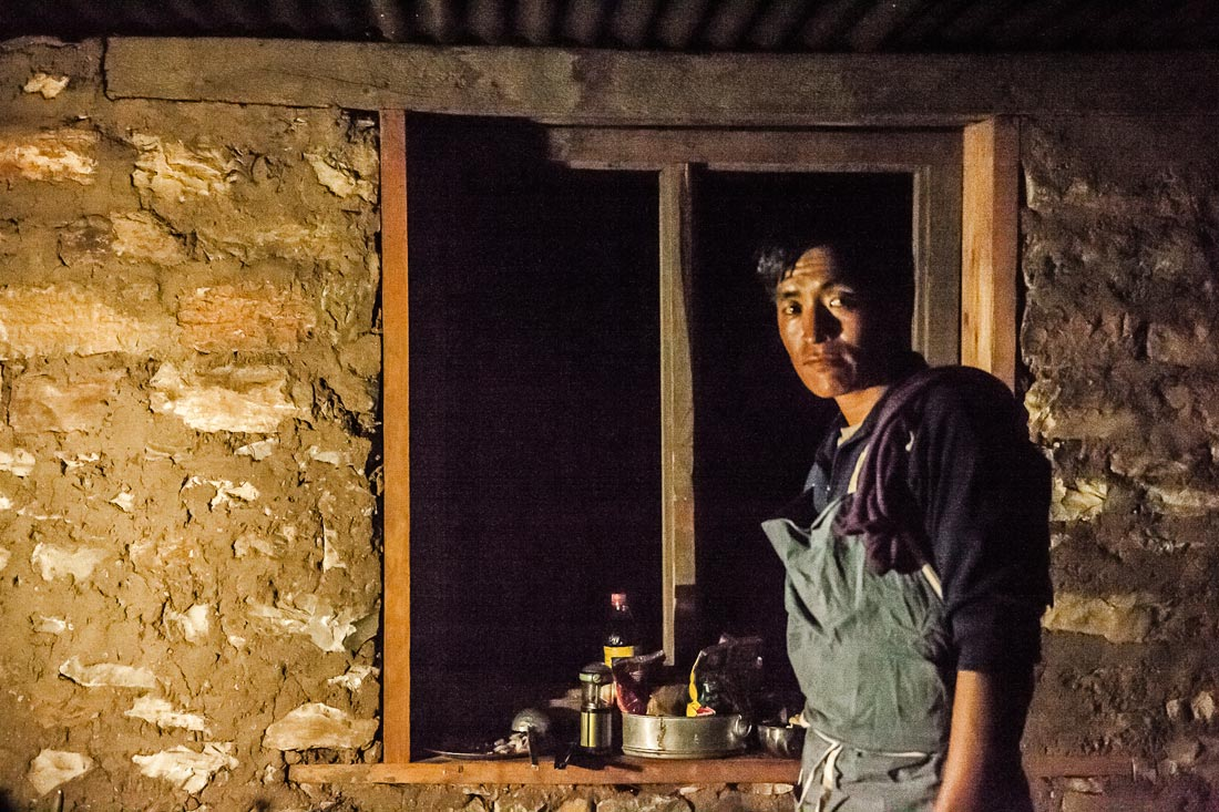 Nawang, one of our cooks in Dolpo, Nepal.