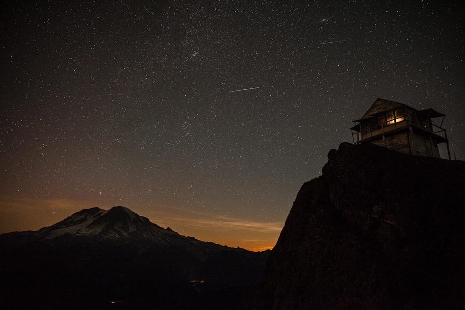 ©Adam Angel. Rainier Night Sky